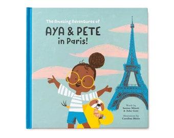 Book - Aya & Pete in Paris! - customised children's present