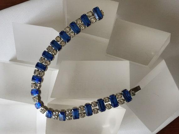 Kramer Blue and Clear Rhinestone Bracelet/Kramer … - image 2