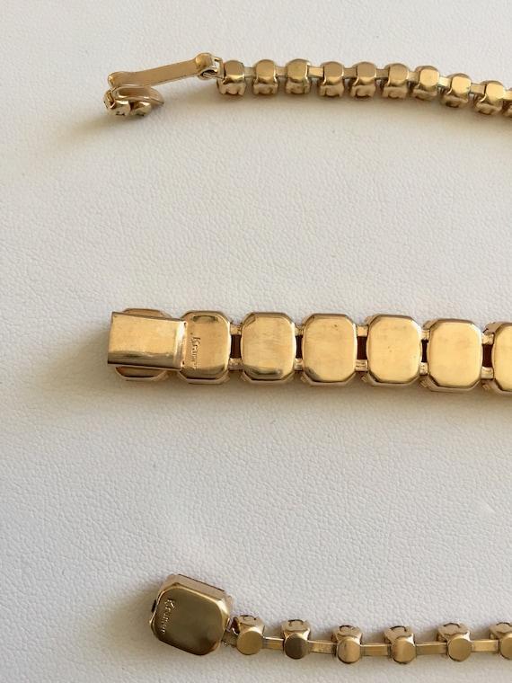 Kramer Topaz Rhinestone Bracelet Necklace/Kramer … - image 9