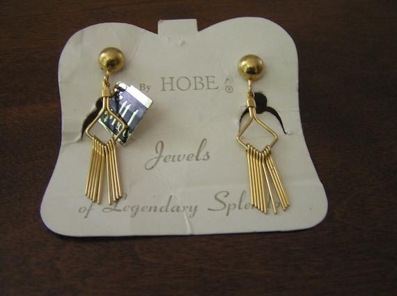 Hobe Earrings, Hobe Art Deco Earrings, Hobe Dangle