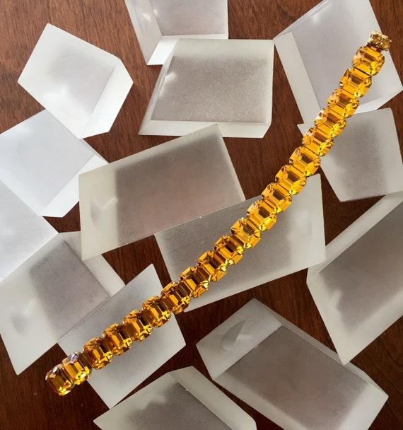Kramer Topaz Rhinestone Bracelet Necklace/Kramer … - image 6