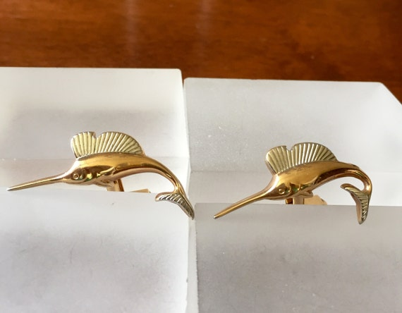 Vintage Swank Cuff Links/SWANK Swordfish Cuff Link