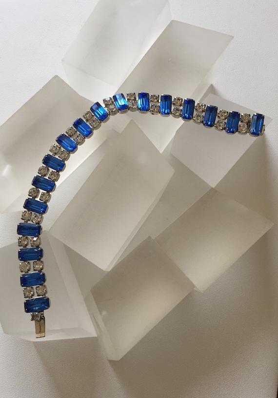 Kramer Blue and Clear Rhinestone Bracelet/Kramer … - image 7