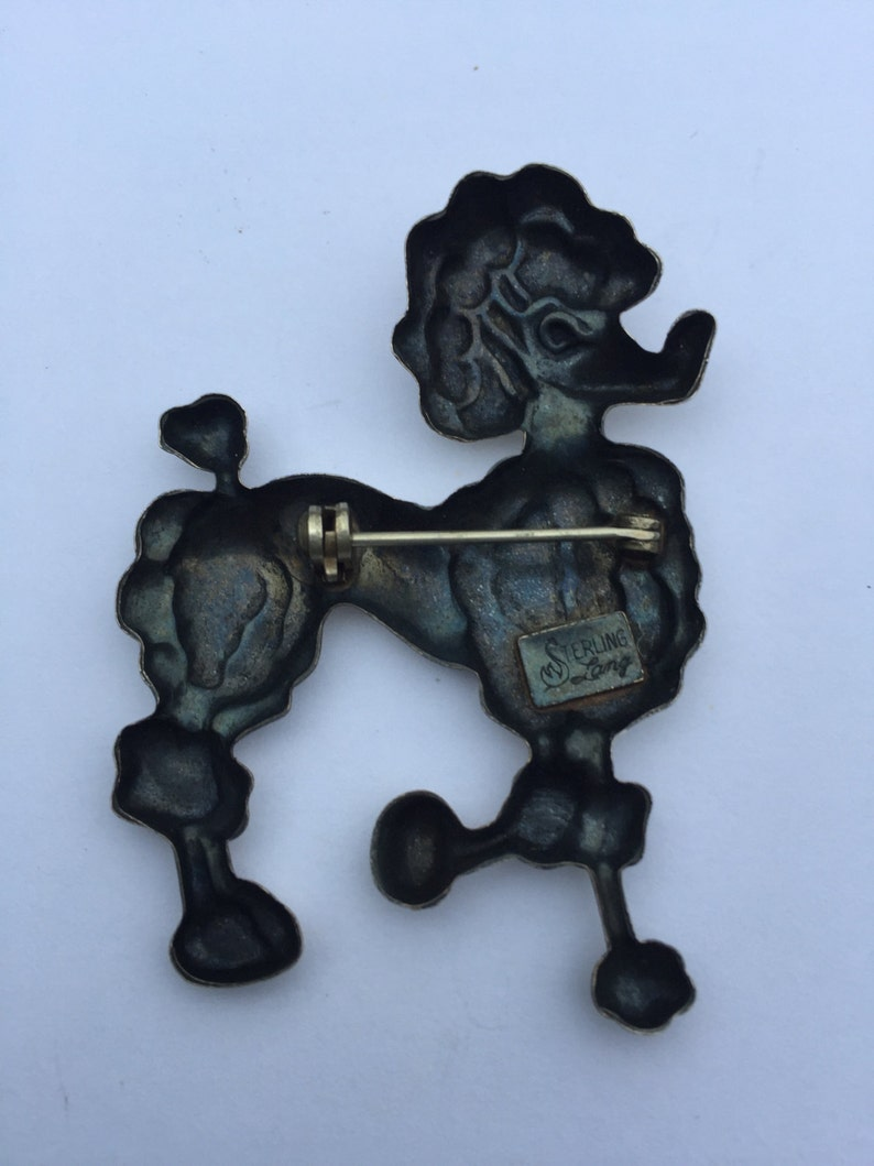 Sterling Silver Dog PinLANG Sterling Silver Dog PinLANG Sterling Silver Poodle Dog PinVintage Lang French Poodle PinSterling Poodle Pin