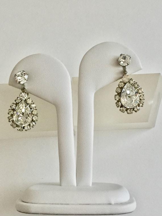 Weiss Petite Clear Rhinestone Earrings Weiss Rhinestone Earrings Weiss Round Rhinestone Earrings Weiss Clear Rhinestone Earrings