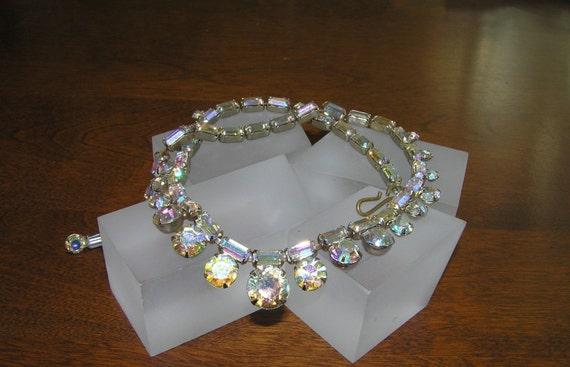 Weiss Rhinestone Necklace, Vintage Weiss Aurora B… - image 2