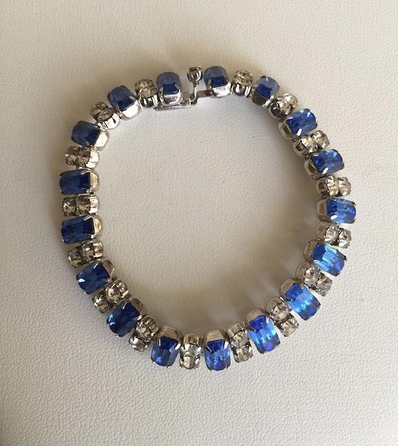 Kramer Blue and Clear Rhinestone Bracelet/Kramer … - image 6
