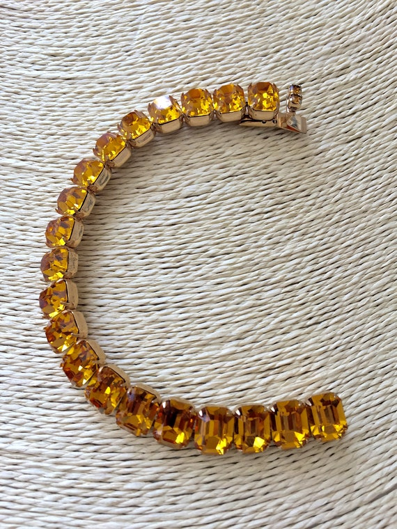 Kramer Topaz Rhinestone Bracelet Necklace/Kramer … - image 7