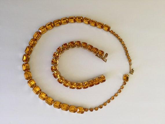 Kramer Topaz Rhinestone Bracelet Necklace/Kramer … - image 5
