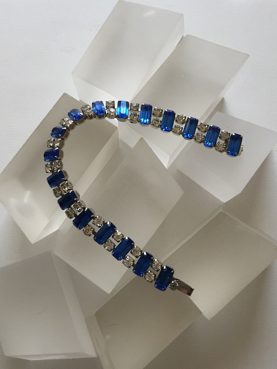 Kramer Blue and Clear Rhinestone Bracelet/Kramer … - image 5