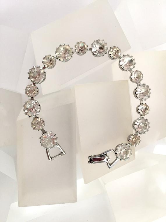 Weiss Clear Rhinestone Bracelet/Vintage Weiss Clea