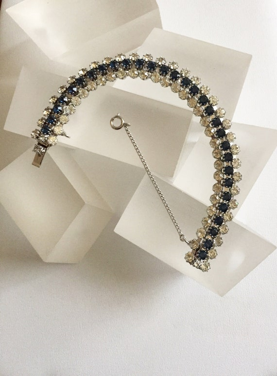 Kramer Blue and Clear Rhinestone Bracelet/Kramer S