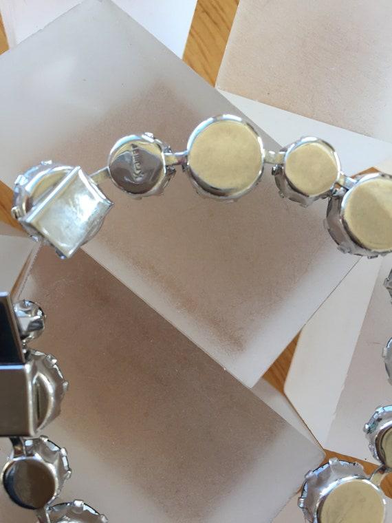 Kramer Blue Rhinestone Bracelet/Kramer Signed Bra… - image 9