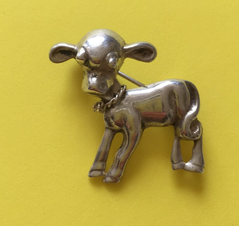Vintage Sterling Lamb Pin/Vintage Mary Had A Little Lamb ...