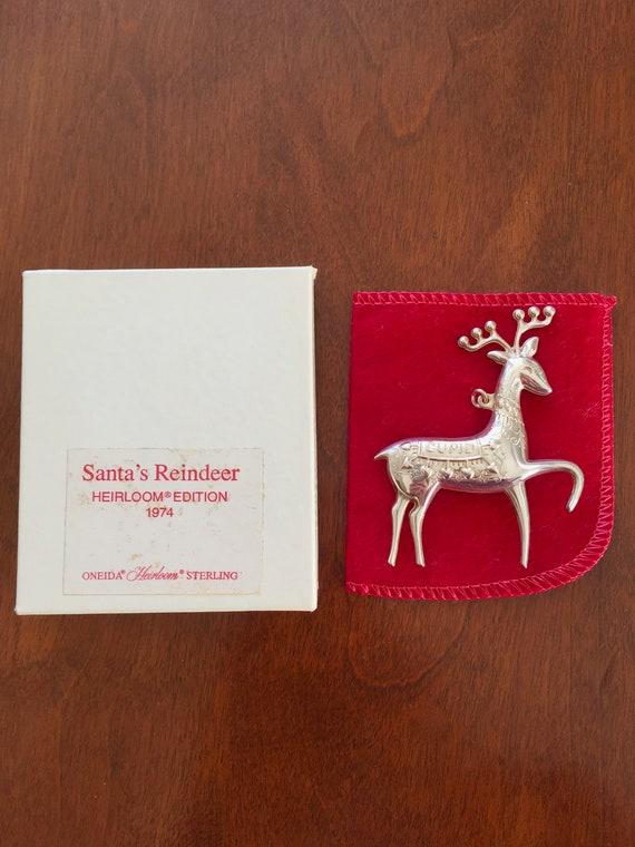 Sterling Silver Oneida 1974 Cupid Reindeer Pin Pen