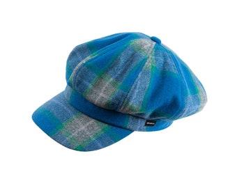 bfc07fd3c78dc Baker boy tweed cap by CRAGGI in strathy blue fabric