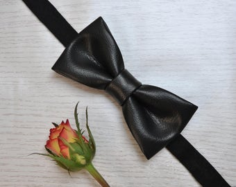 Leather Bow Tie for Men