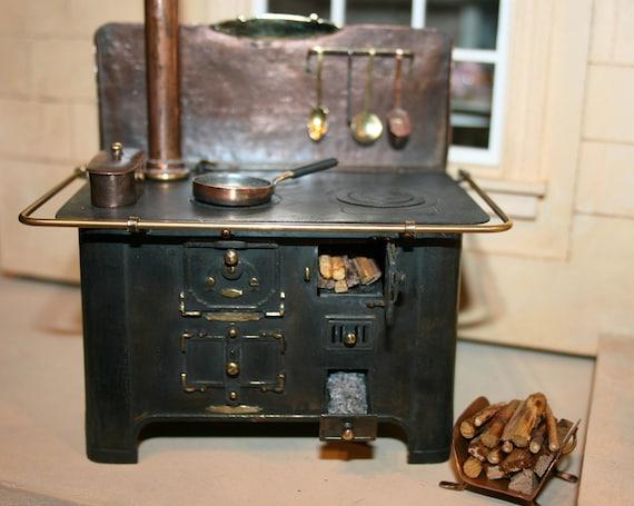 Dollhouse Miniatures Wood Burning Italian Metal Stove Etsy