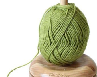 Yarn Butler, Wood by ChiaoGoo // Great way to keep yarn cake or ball tangle free