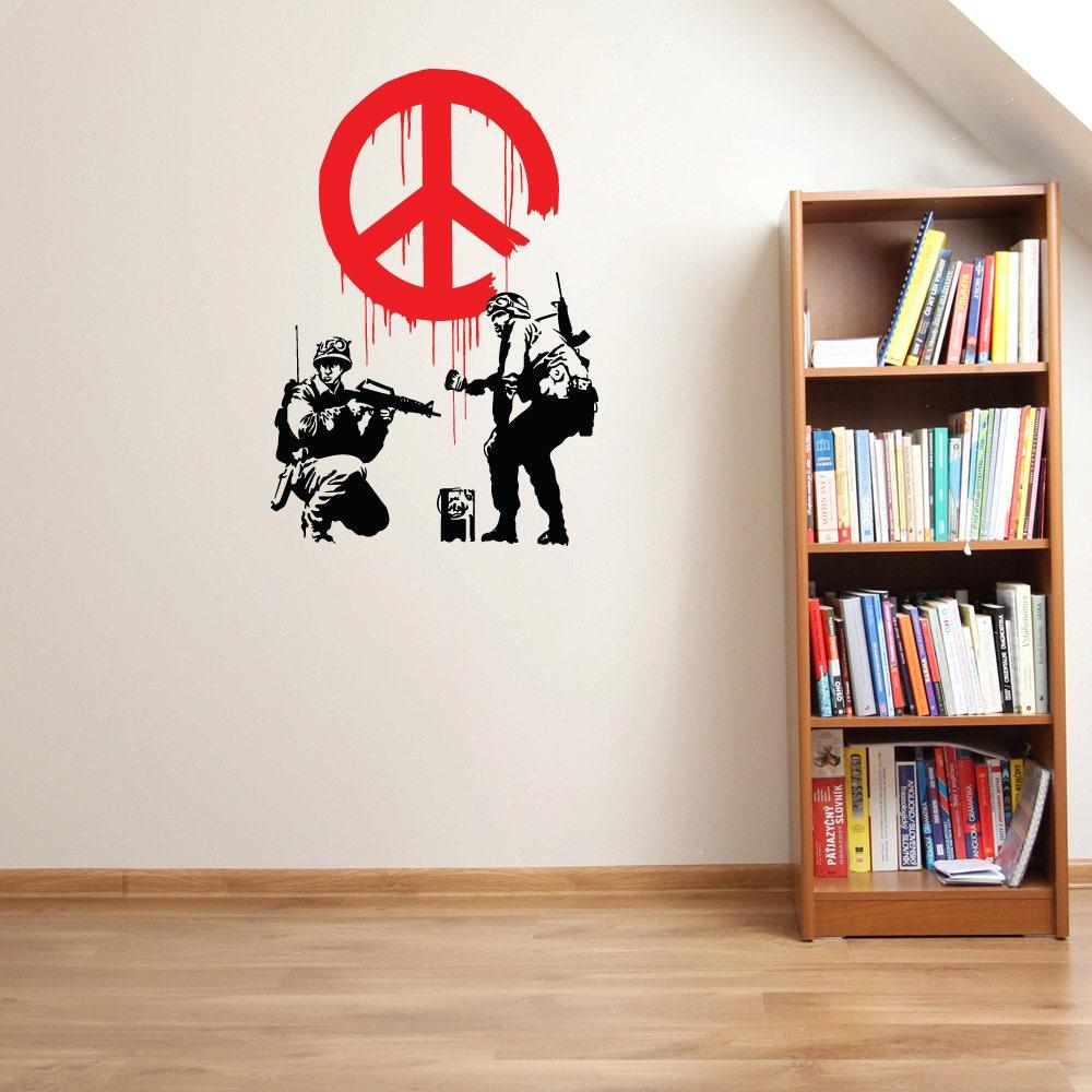 Peace Propaganda Wall Decal Banksy Wall Art Sticker Vinyl Wall