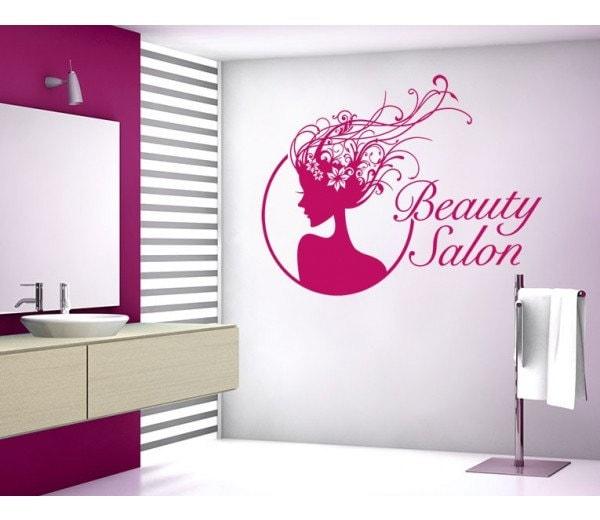Beauty Salon deco wall decal, sticker, mural, vinyl wall art