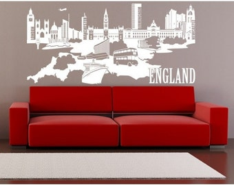 England wall decal, sticker, mural, vinyl wall art