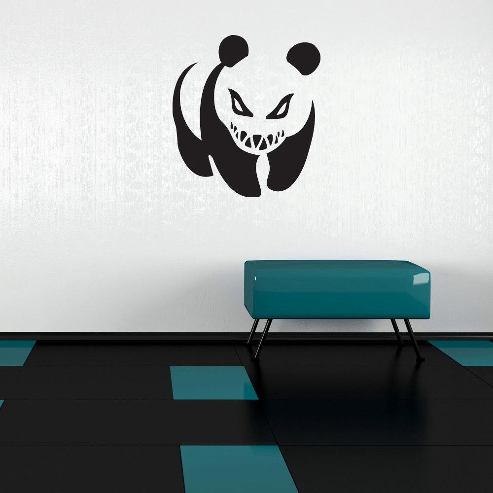 Crazy Panda Wall Decal Banksy Wall Art Sticker Vinyl Wall Art