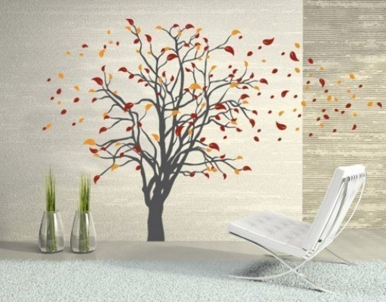 sticker Gorgeous Tree floral wall decal mural vinyl wall art