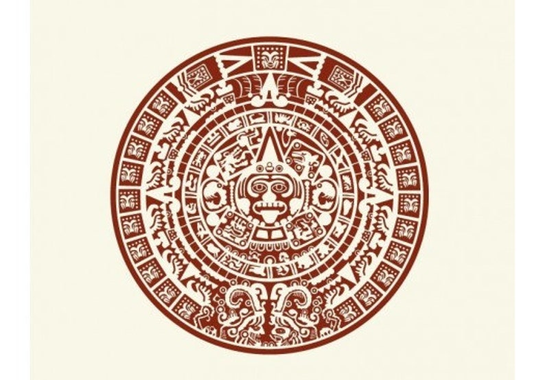 Maya Calendar exotic tribal wall decal vinyl wall art mural sticker