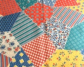 Faux Patchwork Vintage Feedsack Fabric Novelty Piece 1930 39 s 1940 39 s Lg Remnant