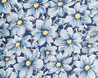 Pink Blue Tiny Flowers Vintage Feedsack Fabric 1930/'s 1940/'s Fat Quarter Quilting Crafts