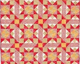 "Stars Around the Block Quilt Pattern Applewood Farm 68"" x 88"""