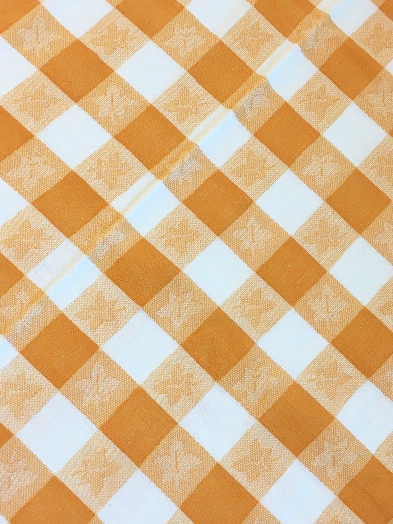 Full Sewn Vintage Feedsack Bright Yellow Orange-Gold White Check Fabric 1930/'s 1940/'s Quilting Patchwork Crafts