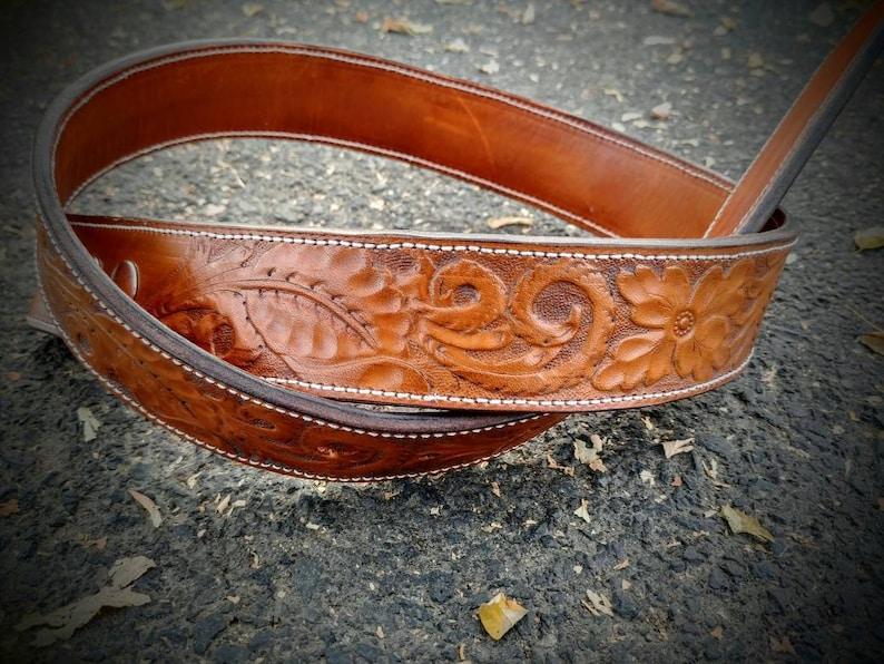 5d345012d13 Floral ceinture Western cuir repoussé ceinture cow-girl