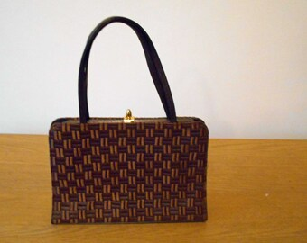 Bective vintage brown evening handbag – Free shipping