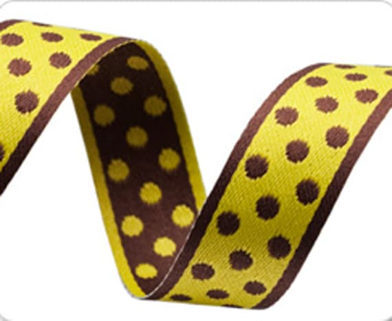 """5 Colors to choose from Polka Dot Ribbon Trim made in France 1//4/"""" wide"""