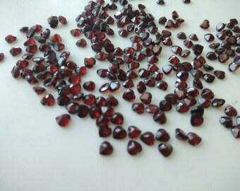 7.40 Cts Natural Garnet Heart shape 4x4 MM-25 pcs