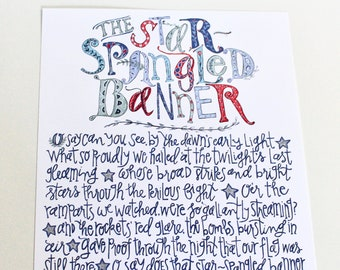 """The Star-Spangled Banner - 11x14"""" art print signed by Aimee Ferre"""