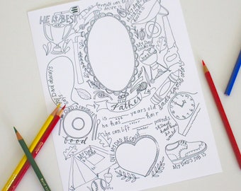 About Dad Coloring Page for Father's Day