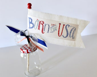 Born in the USA little celebration parade flag