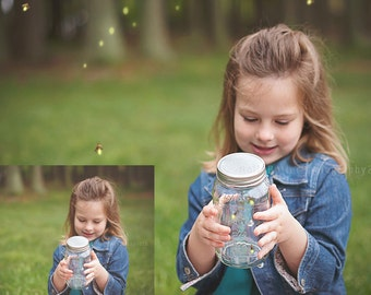 9 Firefly Overlays + Free Actions   Realistic Fireflies Overlays!   Lightning Bugs Overlays   Now with PNG files too!   hbphotoactions