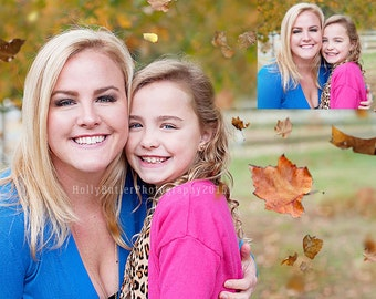 Falling leaves overlay + Fall colors action! | Photoshop only