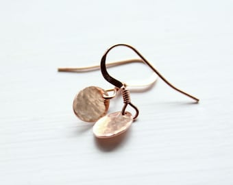Tiny Rose Gold Earrings Christmas gift Dainty jewelry small drop earrings clothing gift jewelry rose gold filled earrings tiny earrings