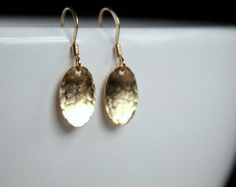Gift For Her, Dainty Drop Earrings, Gold fill, hypoallergenic