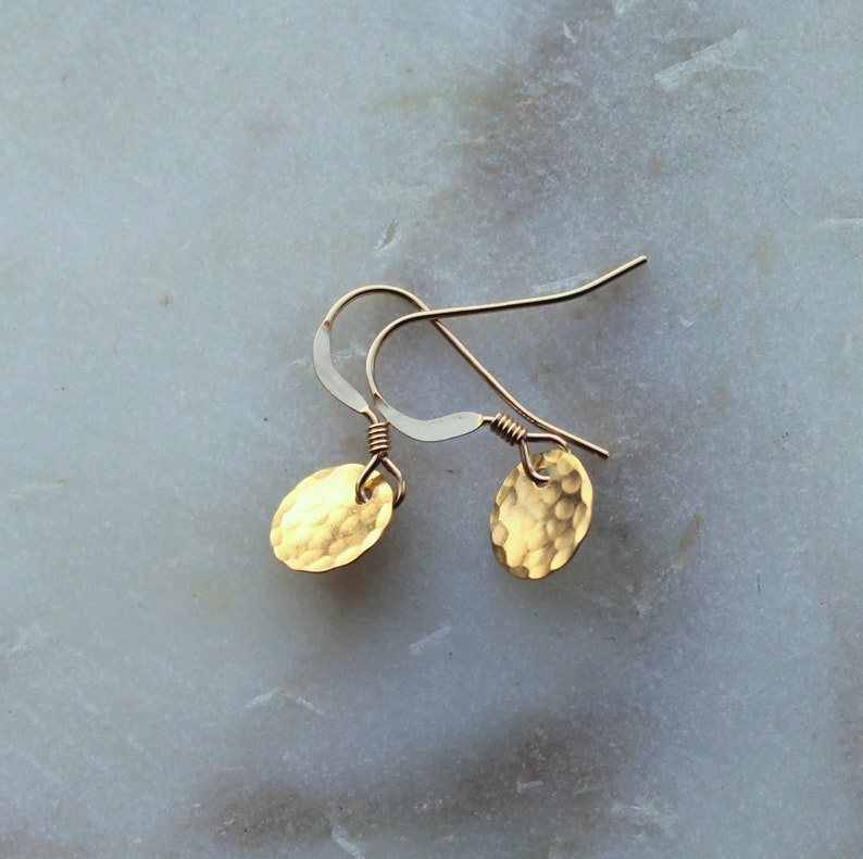 Tiny Dot Earrings Tiny Gold Earrings Everyday jewelry small image 0