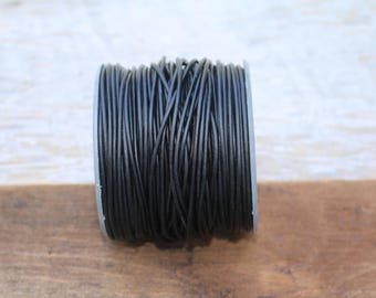 1.5mm Natural Black Leather Cord