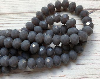 8mm Chinese Crystal Rondelle Beads//44pc