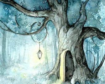 Oak Tree Door- Print