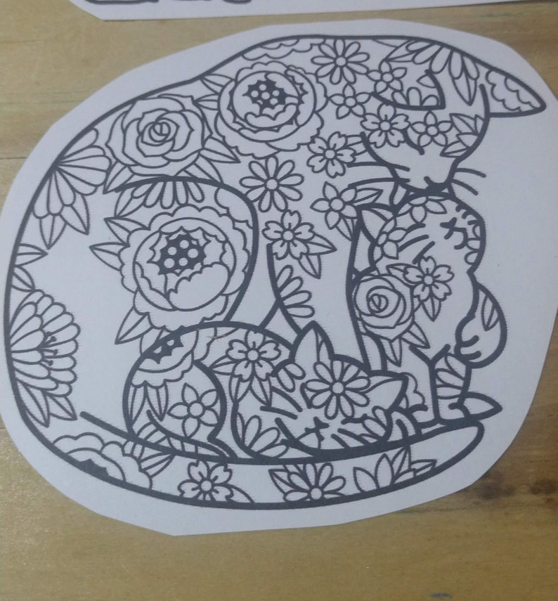 Color Your Own Mandala Stickers Cat Elephant Beehive Fox Bear