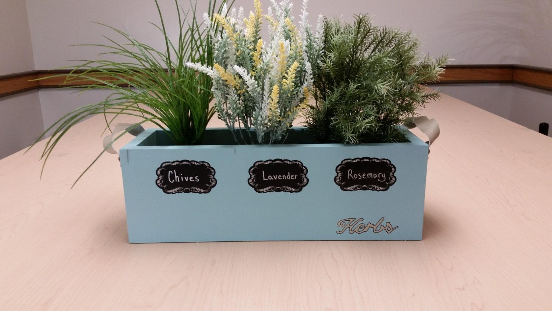 Kitchen window box herb planter | Etsy
